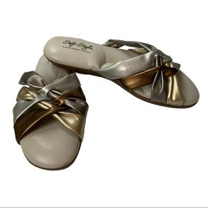 NEW Hush Puppies Gold Silver Bronze Sandals